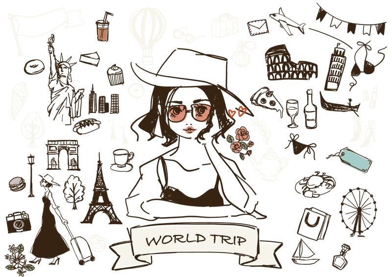 旅行する女性